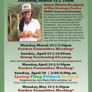 Garden Park Events for Spring