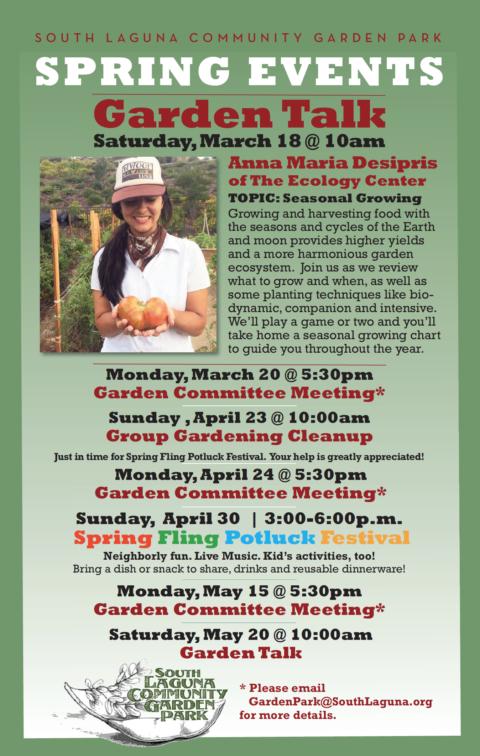 Garden Park Events for Spring